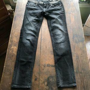 Miss Me Black Skinny Jeans Size 31